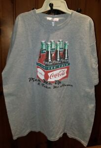 Vintage Coca-Cola T-Shirt Coke Logo Graphic XL Gray Pick Me Up Take Me Home Pack