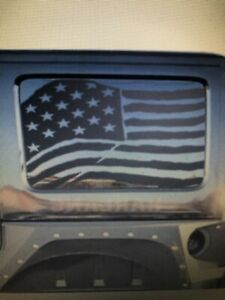 Jeep Wrangler 4 Door Hardtop American Distressed Flag Vinyl Decal New Both Sides