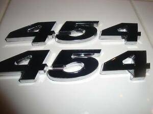454 Emblem Emblems Black Chevy Badge Motor Car Chevelle Corvette Monte Caprice