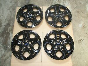1 Set Of 4 Brand New 2010 2011 2012 Fusion Wheel Covers Hubcaps Black 7052