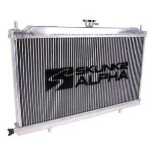 Skunk2 349 05 1500 Alpha Series Aluminum Radiator With Cap For 88 91 Civic Crx