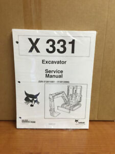 Bobcat 331 Compact Excavator Service Manual Shop Repair Book 2 Part 6724222