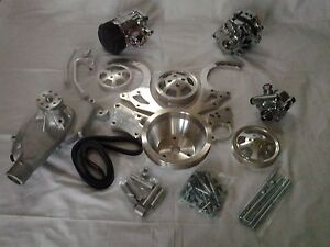 Bbc Serpentine Kit Complete W Ac All Chrome And Aluminum Compare To March Sbc