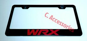 Wrx Stainless Steel Black Finished License Plate Frame Rust Free W Cap