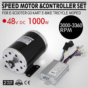 48v Dc Electric Brushed Speed Motor 1000w W Controller Moped Mini Bike Tricycle