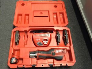 Used Milwaukee M12 Force Logic Press Tool Kit With 1 2 1 Inch Jaws 2473 20