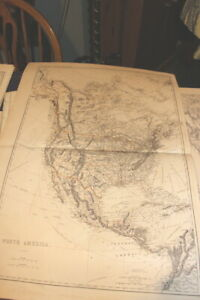 4116 Large Map North America 1875 From Hardesty Atlas