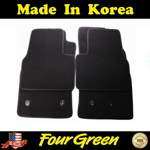 Black Floor Mats For 2016 2019 Chevrolet Volt 4pcs Set