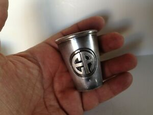 Vintage La Azteca Solid Sterling Silver Shot Glass Cup Heavy 68 5 Gr