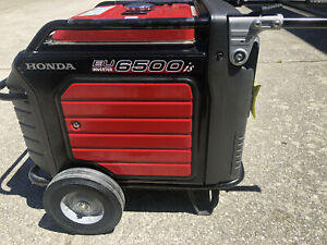 Honda Generator Eu6500is Eu6500 W Portable Quiet Inverter Construction Rv Used