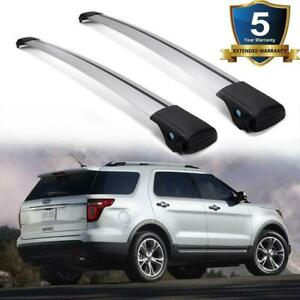 Pair Car Top Luggage Roof Rack Cross Bar Carrier Kit Adjustable Clamps Universal