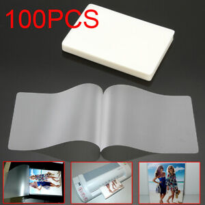 100 Thermal Laminator Laminating Pouches Letter Size Clear 3 77 x2 59 Sheets