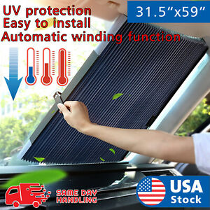 Aluminum Foil Window Visor Retractable Window Car Front Windshield Sun Shade