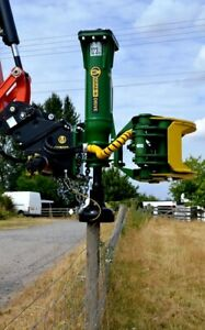Grab n drive Model Gd20s Fence Post Driver Attachment With Log Grapple