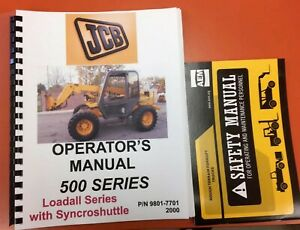 Jcb 500 Series Loadall Operators Manual 9801 7701