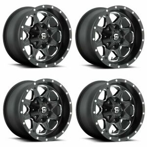 Set 4 16 Fuel Boost D534 Matte Black Milled Wheels 16x8 6x5 5 20mm Truck Rims