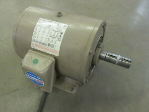 10 Hp Electric Motor 1760 Rpm 230 460 Volts 3 Phase Air Compressor Tested