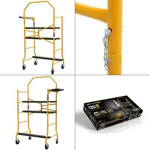 Job Site Series 5 Ft X 4 Ft X 2 1 2 Ft Scaffold 900 Lbs Load Capacity New