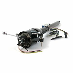 Black 32 Tilt Steering Column With Ignition Key Floor Shift Gm Chevy Pontiac