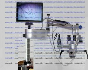 Portable Ent Microscope Mounted On Table With Video Accessories