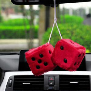 Plush Dice Auto Car Pendant Hanging Decoration Ornaments Hanging Decor 2019 New
