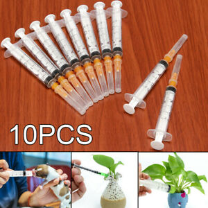 New 10pcs 2ml Plastic Hydroponics Nutrient Disposable Measuring Syringe