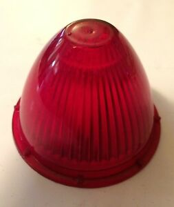 Vintage Red Beehive Bullet Style 157 Marker Light Lens For Auto Motorcycle