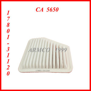 Engine Air Filter For 2010 Toyota Corolla 4cyl 2 4l 17801 31120 Ca 5650