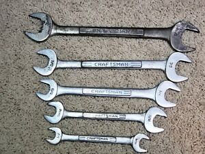Craftsman Open End Wrench Set 5 Piece Vv Series Sae Usa