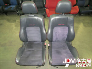 Jdm 97 01 Honda Prelude Type Sh Leather Suede Front Seats H22a Bb6 Bb8 Sir Red S