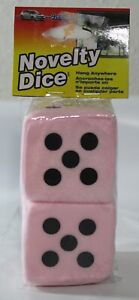 Alpena Novelty Auto Mirror Hanging Dice Pink Black