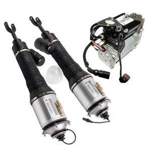 Front Driver Passenger Side Air Suspension Shock Pump Kit For 2005 Vw Phaeton