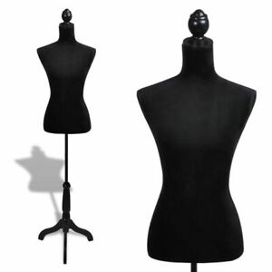 Ladies Bust Display Black Female Mannequin Female Dress Form Y3g0