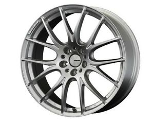 Rays Homura 2x7 Wheels 19x8 0j 48 5x112 Spark Plated Silver Set Of 4 From Japan