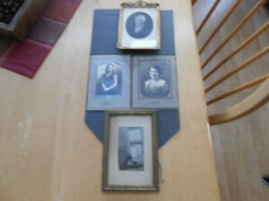 Lot Antique Pictures Frames Gold Color Vintage
