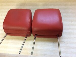 2005 2006 2007 2008 2009 Ford Mustang Gt Front Seat Head Rest Red Leather Pair