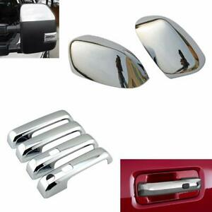 2017 2019 Ford F250 F350 Top Chrome Mirror Cover 4dr Handle Covers Smartkey