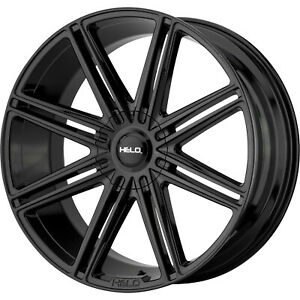 22x9 5 Black Helo He913 Wheels 6x135 6x5 5 30 Fits Ford Expedition 6 Lug Only