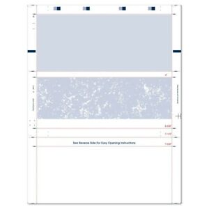8 1 2 X 11 Z Fold Check Blue Marble Basic Security Paper box Of 2000