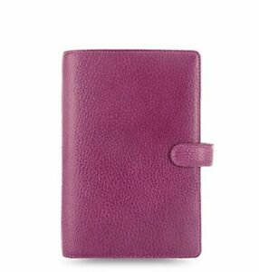 Filofax Personal Finsbury Raspberry Full Grain Leather Organiser