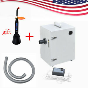 Dental Digital Single row Dust Collector Vacuum Cleaner Lab Curing Light usa