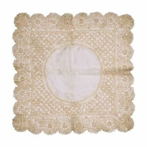 Antique Maltese Silk Lace Wedding Handkerchief Fine Gorgeous Hankie