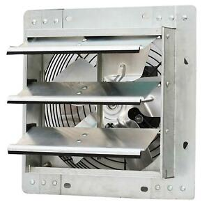 Shutter Mounted Fan Exhaust 10 Automatic Explosion Proof Garage Cool Air Blades