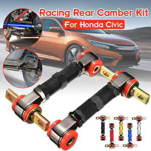 Adjustable Racing Rear Suspension Camber Control Arms Kit For Honda Civic New