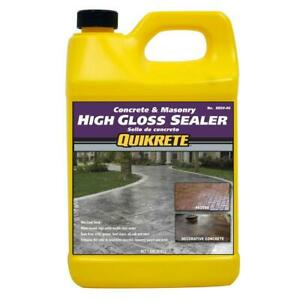 1 Gal High Gloss Concrete Sealer Oil Grease Salt Acid Sealing Protects From