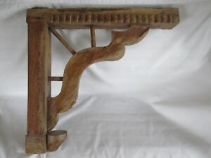 Unusual Old Rustic Tavern Corbel Wood Large Single