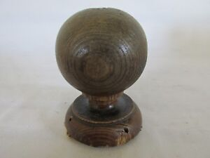 Old Wood Cannonball Newel Post Finial Old House Salvage