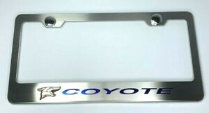 License Plate Frame For Coyote Mustang 5 0 W Blue Carbon Fiber premium