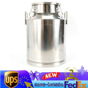 50liter 13 25 Gallon Stainless Steel Milk Can Wine Pail Bucket Tote Jug Usa