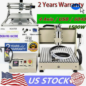 6040 Cnc Router Usb 1 5kw 4axis Milling Cut Machine mini 2417 Engraver handwheel